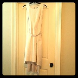 High-lo cocktail party dress in Champagne
